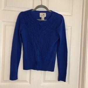 Anthropologie Tabitha blue sweater